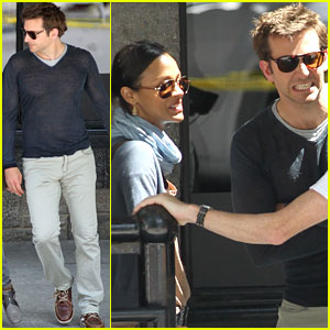 Zoe Saldana &#038; Bradley Cooper: Filming in Montreal