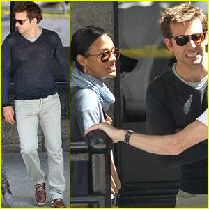 Zoe Saldana & Bradley Cooper: Filming in Montreal