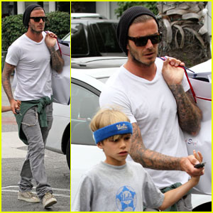 David Beckham: Fred Segal with Romeo!