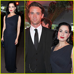 Dita Von Teese: amfAR Inspiration Gala with Louis Marie de Castelbajac!