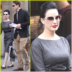 Dita Von Teese: Paris with Louis-Marie de Castelbajac!