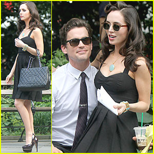 Eliza Dushku: White Collar Set with Matt Bo