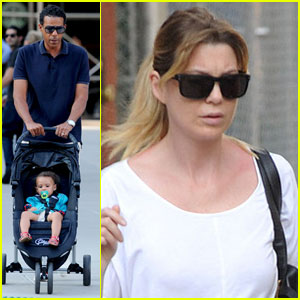 Ellen Pompeo: West Village Walk with Chris & Stella!