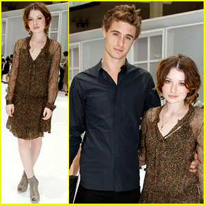 Emily Browning & Max Irons: Dior Homme Menswear Show!