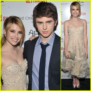 Emma Roberts: 'Art of Getting By' Screening with Freddie Highmore!