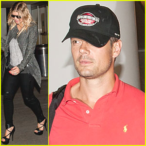 Fergie & Josh Duhamel: LAX Landing