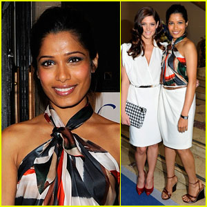 Freida Pinto: Ferragamo Show with Ashley Greene!