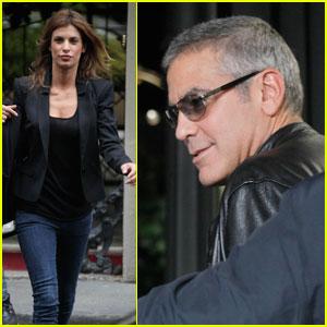 George Clooney & Elisabetta Canalis: Milan Mates