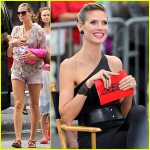 Heidi Klum Films 'Project Runway' with Kim Kardashian!