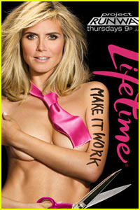 Heidi Klum: Naked for 'Project Runway' Ad!
