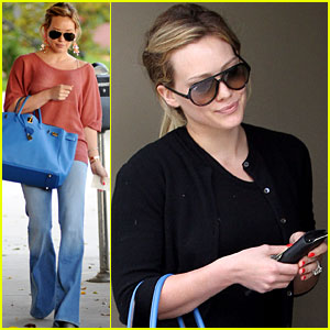 Hilary Duff: Friday Salon Stop