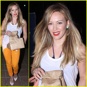Hilary Duff: Mellow Yellow at Pace
