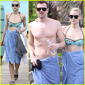 Jaime King: Bikini Beach Time with Kyle Newman!