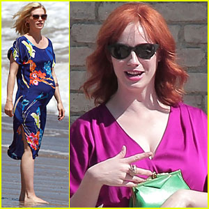January Jones: Baby Shower on the Beach!