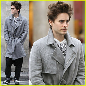 Jared Leto: Popped Collar for Parisian Stroll!