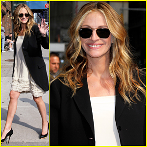 Julia Roberts Visits 'David Letterman'!
