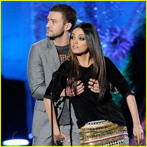 Mila Kunis Grabs Justin Timberlake's Crotch
