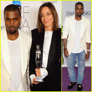 Kanye West: CFDA Fashion Awards 2011 with Phoebe Philo