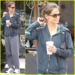 Katie Holmes: Le Pain Quotidien Run!