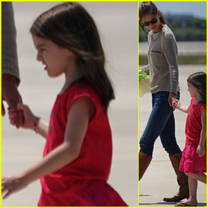 Katie Holmes & Suri Cruise: Leaving Miami Beach