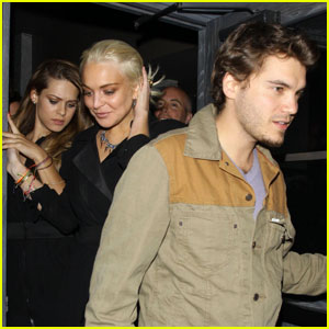 Lindsay Lohan: Lexington Social House with Emile Hirsch!