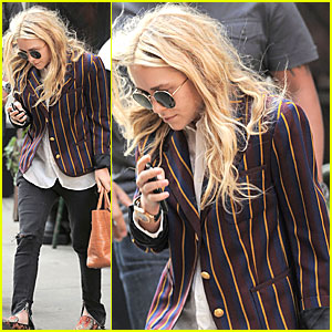 Mary-Kate Olsen Shows Her Stripes