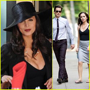 Matt Bomer: 'White Collar' Filming with Eliza Dushku!
