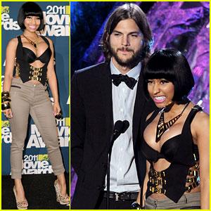 Nicki Minaj: MTV Movie Awards 2011 with Ashton Kutcher!
