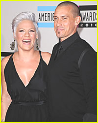 Pink & Carey Hart Bring Baby to the Beach