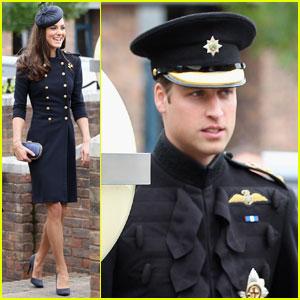 Prince William & Kate: Irish Guards Medal Ceremony