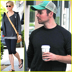 Renee Zellweger: Starbucks with a Mystery Man!