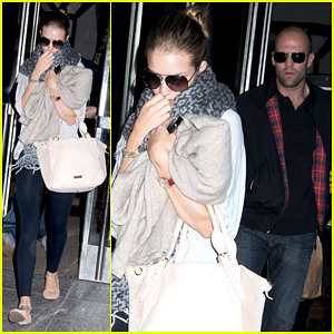 Rosie Huntington-Whiteley & Jason Statham: Manhattan Check Out!