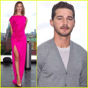 Rosie Huntington-Whiteley & Shia LaBeouf Take Transformers to Moscow!