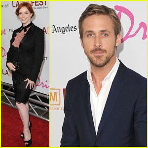 Ryan Gosling: 'Drive' Premiere with Christina Hendricks!