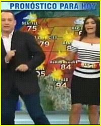 Tom Hanks: Weather Segment on Spanish TV!