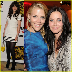 Courteney Cox: Critics' Choice TV Awards with Busy Philipps!