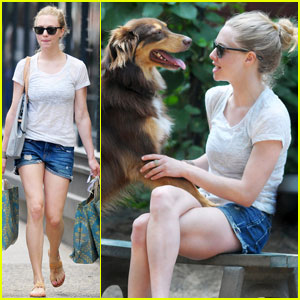Amanda Seyfried Spends Friday with Finn