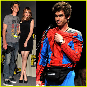 Andrew Garfield: Spidey Suit at Comic Con with Emma Stone!