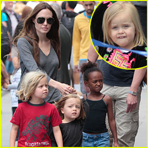 Angelina Jolie: London Aquarium with the Kids!