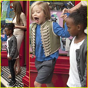 Angelina Jolie: Toy Store with Zahara & Shiloh!