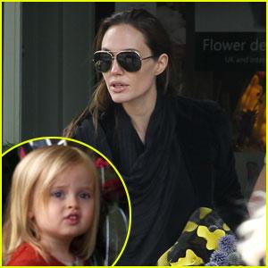 Angelina Jolie & Vivienne: Flower Girls!