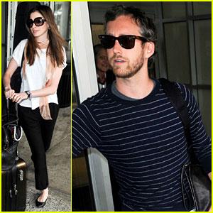 Anne Hathaway & Adam Shulman: New York Landing