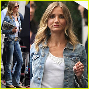 Cameron Diaz Doubles Denim for 'Gambit'