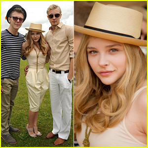 Chloe Moretz: Polo Match with Bros Trevor & Ethan!