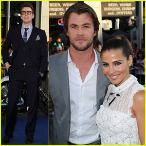 Chris Evans & Chris Hemsworth: 'Captain America' Premiere!