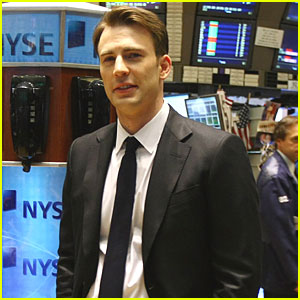 Chris Evans Rings NYSE Opening Bell