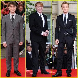 Daniel Radcliffe & Rupert Grint: 'Deathly Hallows' Premiere!