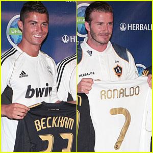 Cristiano Ronaldo & David Beckham: World Football Challenge!