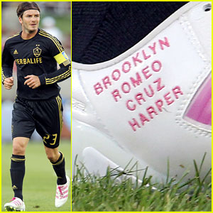 David Beckham: New Soccer Shoes!
