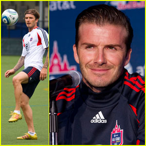 David Beckham: Practicing at Pier 40!